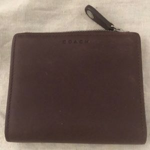 Coach wallet, brown leather, like new.